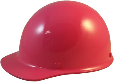 MSA Skullgard (SMALL SIZE) Cap Style Hard Hats with Ratchet Suspension - Hot Pink - Oblique View
