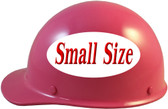 MSA Skullgard (SMALL SIZE) Cap Style Hard Hats with Ratchet Suspension - Hot Pink - Left Side View