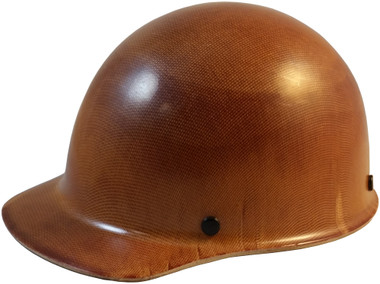 MSA Skullgard (SMALL SIZE) Cap Style Hard Hats with Ratchet Suspension - Natural Tan - Oblique View