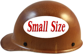 MSA Skullgard (SMALL SIZE) Cap Style Hard Hats with Ratchet Suspension - Natural Tan - Left Side View