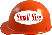 MSA Skullgard (SMALL SIZE) Cap Style Hard Hats with Ratchet Suspension - Orange - Left Side View