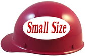 MSA Skullgard (SMALL SIZE) Cap Style Hard Hats with Ratchet Suspension - Raspberry - Left Side View