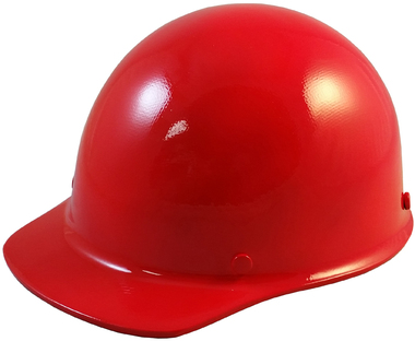 MSA Skullgard (SMALL SIZE) Cap Style Hard Hats with Ratchet Suspension - Red - Oblique View
