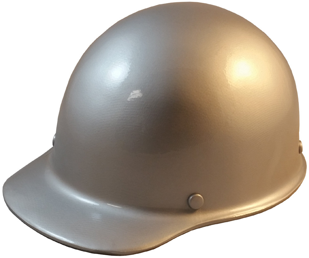 3ad71bad9594 MSA Skullgard (SMALL SIZE) Cap Style Hard Hats with Ratchet Suspension -  Silver -. Loading zoom