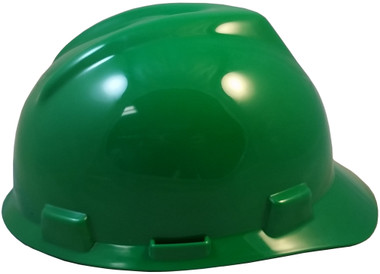 MSA V-Gard Cap Style with Fast Trac III Suspensions - Green (Older Dates)