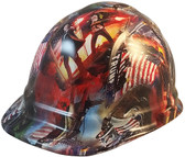 President Donald Trump Hydro Dipped Hard Hats Cap Style  - Oblique View