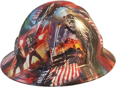 President Donald Trump Hydro Dipped Hard Hats Full Brim Style - Oblique View