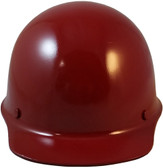 MSA Skullgard Cap Style With STAZ ON Suspension Maroon - Front View