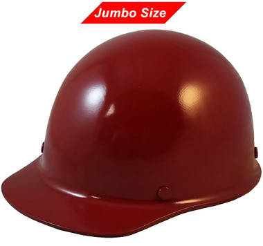 MSA Skullgard (LARGE SHELL) Cap Style Hard Hats with Ratchet Suspension - Maroon - Oblique View