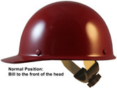 Skullgard Cap Style Hard Hats With Swing Suspension Maroon ~ Swing Suspension in Reverse Position
