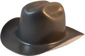 Outlaw Cowboy Hardhat with Ratchet Suspension Textured Gunmetal - Oblique View