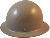 MSA Skullgard Full Brim Hard Hat with STAZ ON Suspension- KHAKI - Oblique View