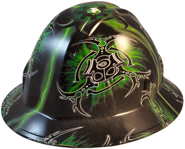 Nuclear Fallout Full Brim Hydro Dipped Hard Hats - Oblique View