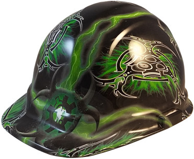 Nuclear Fallout Hydro Dipped Cap Style Hard Hats - Oblique View