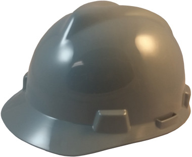 MSA V-Gard Cap Style Hard Hats with Staz-On Suspensions Gray  - Oblique View