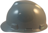 MSA V-Gard Cap Style Hard Hats with One Touch Suspensions Gray  - Left Side View