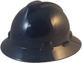 MSA V-Gard Full Brim Hard Hats with One-Touch Suspensions Navy Blue - Oblique View