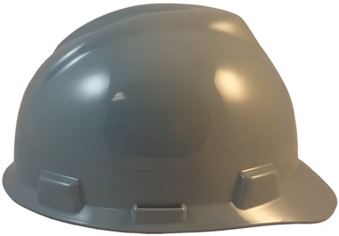 MSA V-Gard Cap Style with One Touch Suspensions - Gray (Older Dates) right