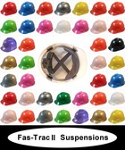 MSA V-Gard Cap Style Hard Hats with OLD STYLE Fas-Trac II Suspensions (All Colors)