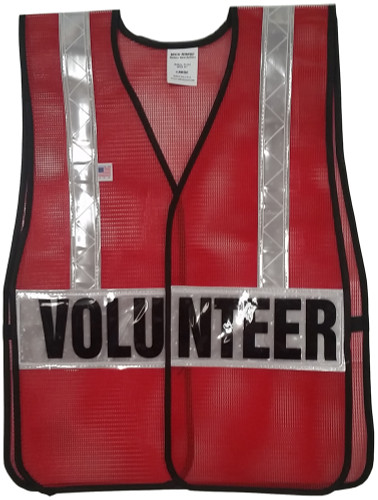 Dark Red Soft Mesh Vests Printed with Silver Stripes - Front View