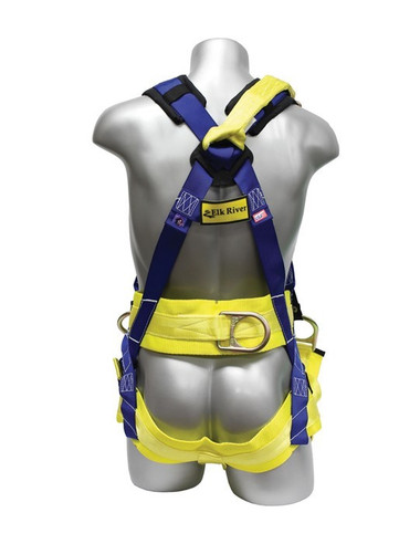 Oil Rigger's Harness Kit (One D-Ring) 2XL Size - Back View