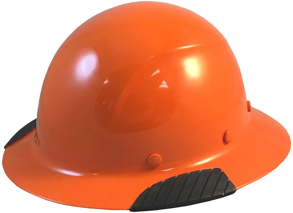 Actual Carbon Fiber Hard Hat - Full Brim Hi-Viz Orange