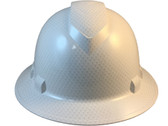 Pyramex Full Brim RIDGELINE Hard Hat Shiny White Pattern - Front View