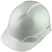 Pyramex Ridgeline Cap Style Hard Hat with Shiny White Graphite Pattern - Oblique