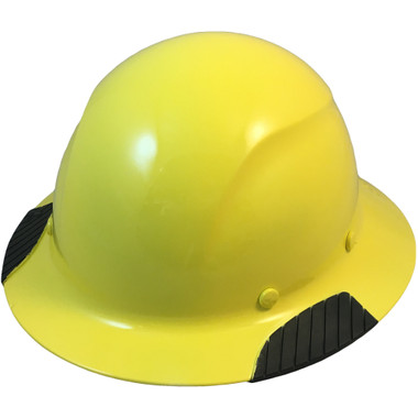 DAX Fiberglass Composite Hard Hat - Full Brim Yellow - Oblique View