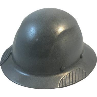 Actual Carbon Fiber Hard Hat - Full Brim Textured Gunmetal Gray  - Oblique View