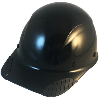 DAX Fiberglass Composite Hard Hat - Cap Style Black - Oblique View