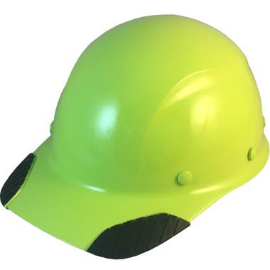 DAX Fiberglass Composite Hard Hat - Cap Style Hi Viz Lime - Oblique View