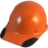 DAX Fiberglass Composite Hard Hat - Cap Style Hi Viz Orange - Oblique View