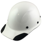 DAX Fiberglass Composite Hard Hat - Cap Style White - Oblique View
