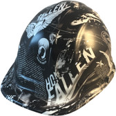 Honor The Fallen Hydro Dipped Cap Style Hard Hats  - Oblique View