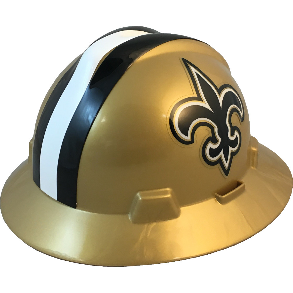 08061fd2288a50 New Orleans Saints Full Brim Hard Hats | Buy Online at T.A.S.C.O.