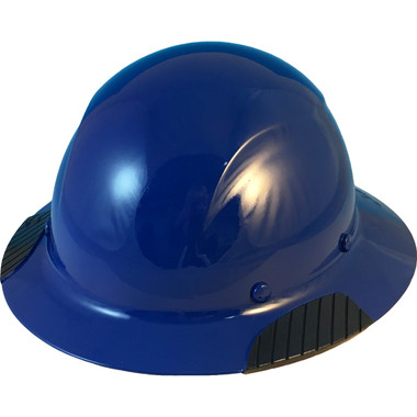 DAX Fiberglass Composite Hard Hat - Full Brim Royal Blue - Oblique View
