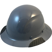 Actual Carbon Fiber Hard Hat - Full Brim Textured Medium Gray  - Oblique View