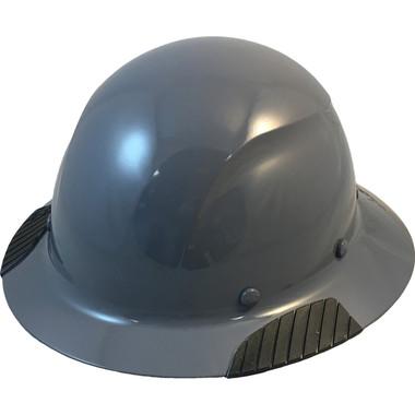 Actual Carbon Fiber Hard Hat - Full Brim Textured Medium Gray  - Oblique View