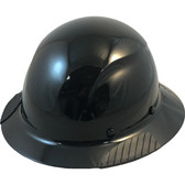 Actual Carbon Fiber Hard Hat - Full Brim Solid Black - Oblique