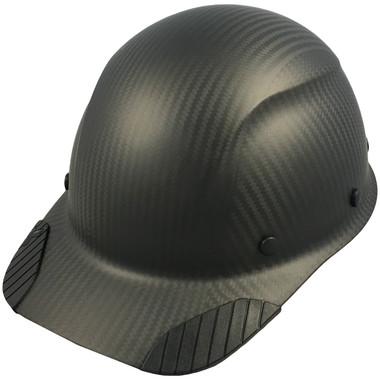 Actual Carbon Fiber Hard Hat - Cap Style Matte Black  - Oblique View