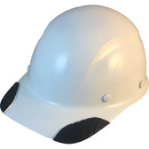 DAX Carbon Fiber Hard Hat - Cap Style White - Oblique View