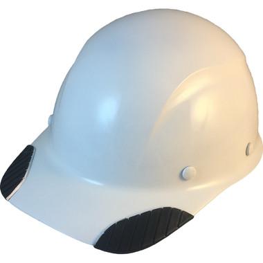 DAX Carbon Fiber Hard Hat - Cap Style White - Oblique View