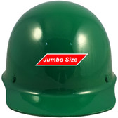 MSA Skullgard (LARGE SHELL) Cap Style Hard Hats with STAZ ON Suspension - Green - Front View