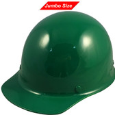 MSA Skullgard (LARGE SHELL) Cap Style Hard Hats with Ratchet Suspension - Green - Oblique View