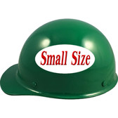 MSA Skullgard (SMALL SHELL) Cap Style Hard Hats with Ratchet Suspension - Green - Left Side View