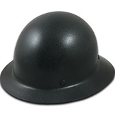 MSA Skullgard Full Brim Hard Hat with STAZ ON Suspension - GUNMETAL BLACK - Oblique View