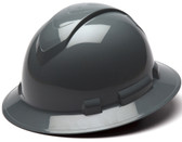 Pyramex Full Brim RIDGELINE Hard Hat Slate Gray 4 Point Suspensions  - Oblique View