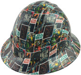 Star Wars Style Full Brim Hydro Dipped Hard Hats - Oblique View