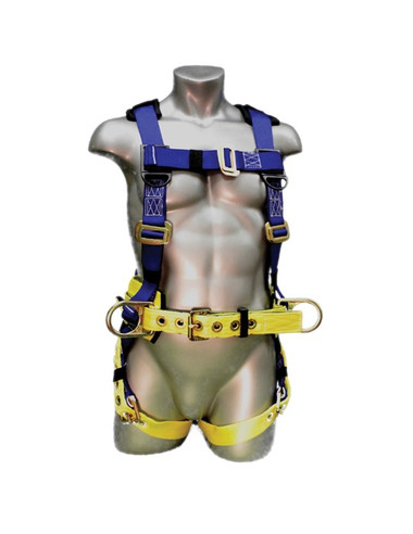 WorkMaster Big and Tall Harness, 3 D-Ring  - Front View